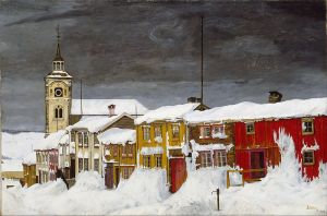 Harald_Sohlberg_-_Street_in_Røros_in_Winter_-_Google_Art_Project
